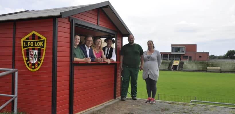 Projekt ELANA errichtet Versorgungshäuschen für Lok Stendal